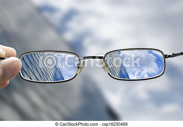 gebäude, glas, vision, geschaeftswelt - csp16230469