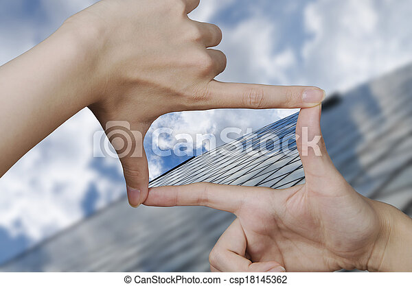 gebäude, glas, vision, geschaeftswelt - csp18145362