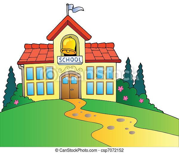 Geb ude gro schule geb ude schule illustration for A que zona escolar pertenece mi escuela