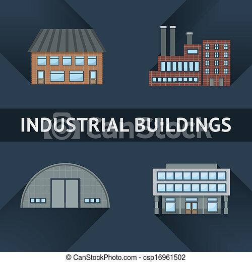 Industrie- und Geschäftsgebäude Ikonen - csp16961502