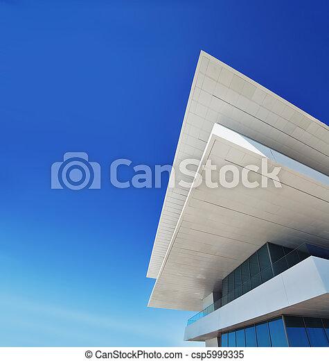 Gebaude Kopie Moderne Architektur Raum Gebaude Blaues Raum