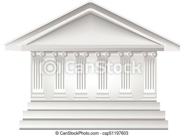 Gebäude, logo, spalten. Gebäude, uralt, haus, vektor, griechischer ...