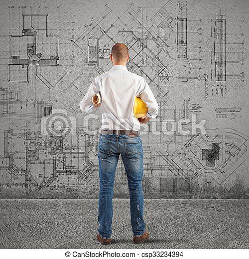 Projekte eines Gebäudes - csp33234394