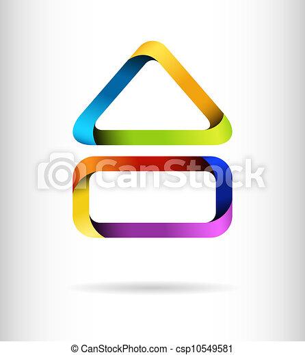 gebäude, regenbogen, begriff, design - csp10549581