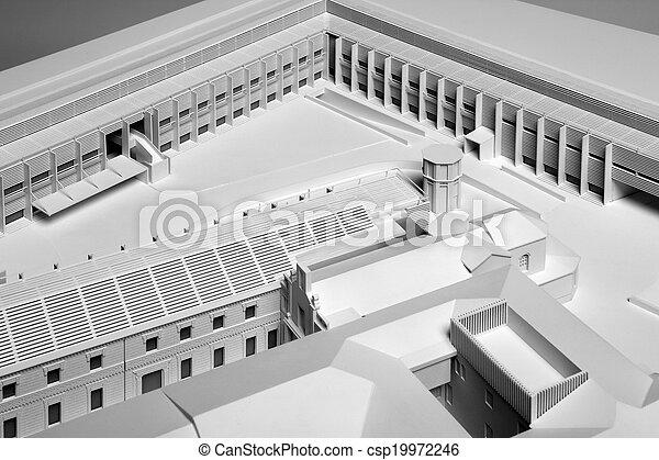 Modellskala eines neuen Architektur-Projektgebäudes - csp19972246