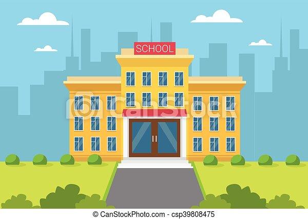 gebäude, stadt, schule, außen ansicht - csp39808475