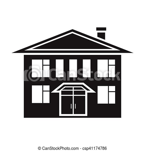 geb ude stil illustration haus symbol freigestellt vektor suche clipart. Black Bedroom Furniture Sets. Home Design Ideas