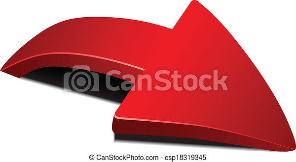Roter Pfeil - csp18319345