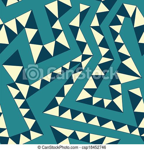 gebogen, weinlese, seamless, streifen, muster - csp18452746