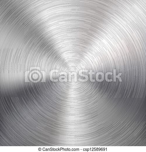 geborsteld metaal, achtergrond, textuur, circulaire - csp12589691