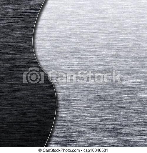 geborsteld metaal, textuur, mal - csp10046581