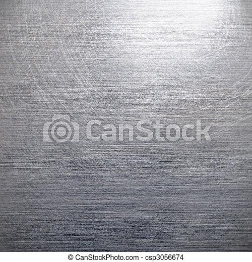geborstelde, zilver, aluminium - csp3056674