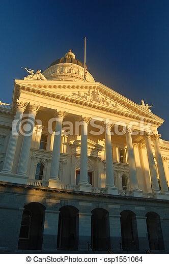 gebouw, californai, capitool - csp1551064