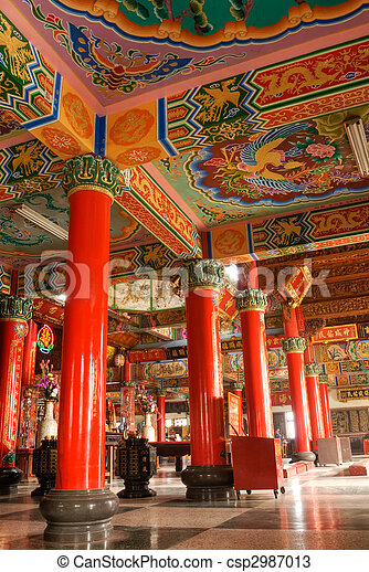 affordable gebouw chinees classieke kleur interieur tempel stockfoto with kleur in je interieur chinese