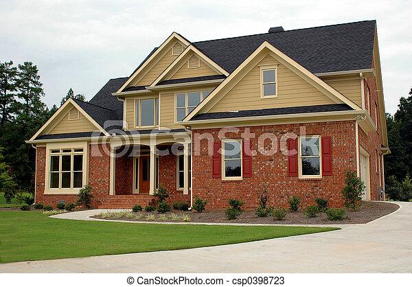 gebouw, nieuw huis - csp0398723