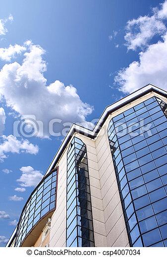 gebouw, op grote hoogte, kantoor - csp4007034