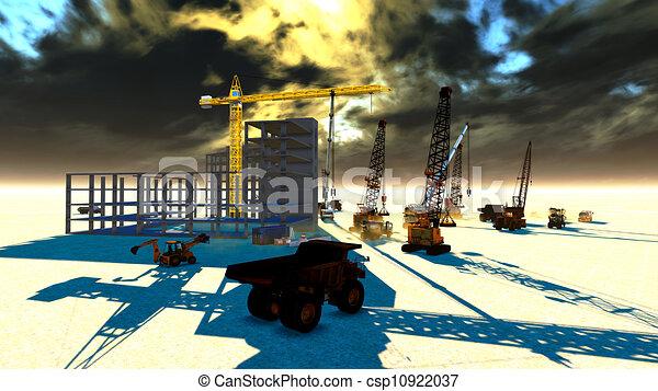 gebouw stek - csp10922037