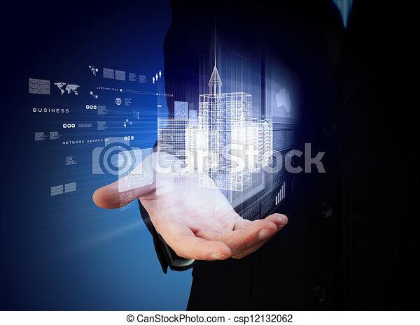 gebouw, techniek, ontwerp, automatisering - csp12132062