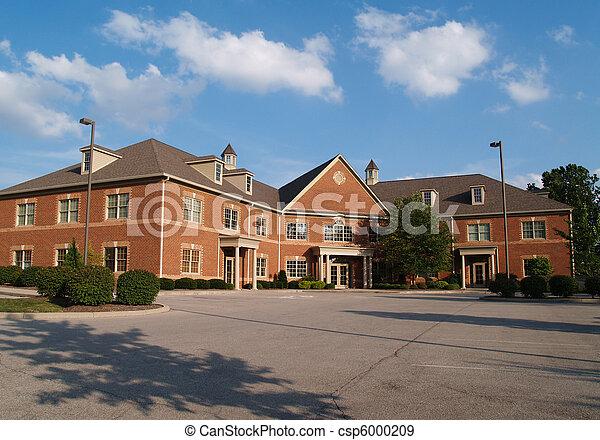 gebouw, verhaal, baksteen, kantoor, twee - csp6000209