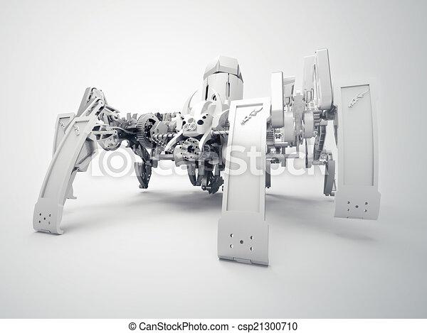 gebrauchend, roboter, spinne, mechanismus, jansen - csp21300710