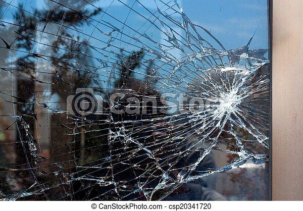 gebroken glas - csp20341720