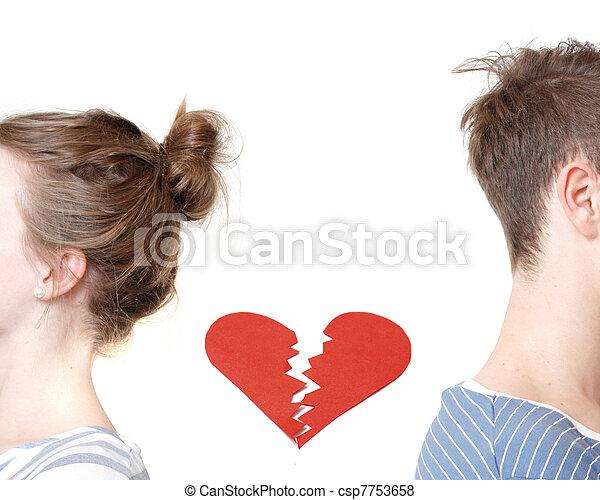 gebroken hart - csp7753658