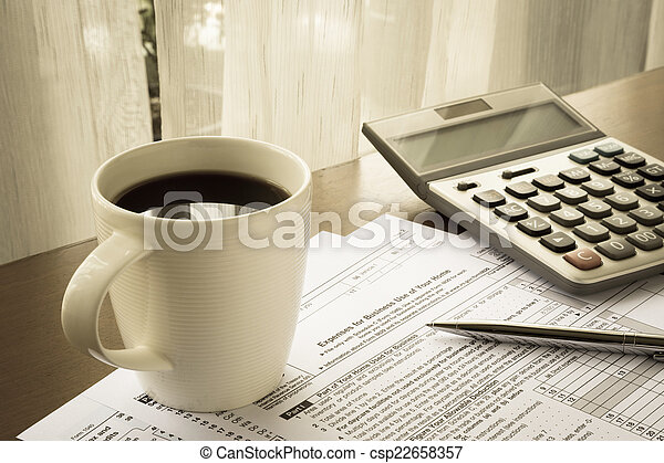 gebruiken, zakelijk, belasting, kosten, vormen, thuis, jouw - csp22658357