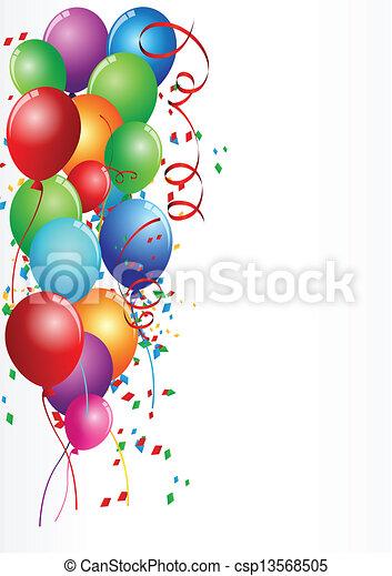 geburtstagsfeierlichkeiten - csp13568505
