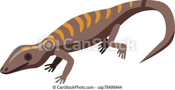Gecko lizard icon, isometric style - csp78499944