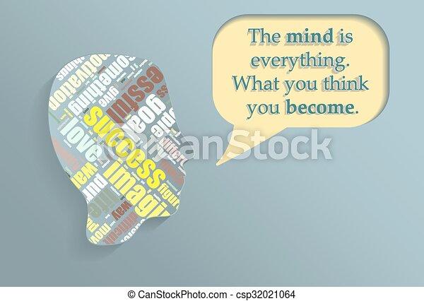 gedachte, bellen, silhouette - csp32021064