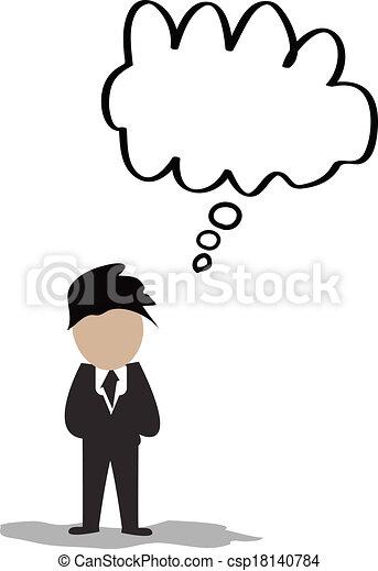 gedachte, zakenman, bellen, lege - csp18140784