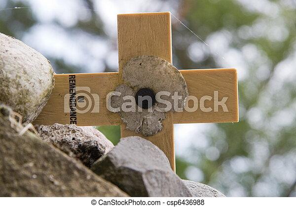 gedenkteken, kruis - csp6436988