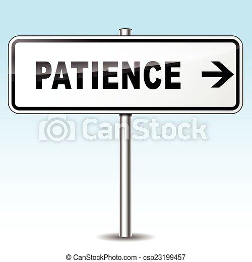 Geduldszeichen - csp23199457