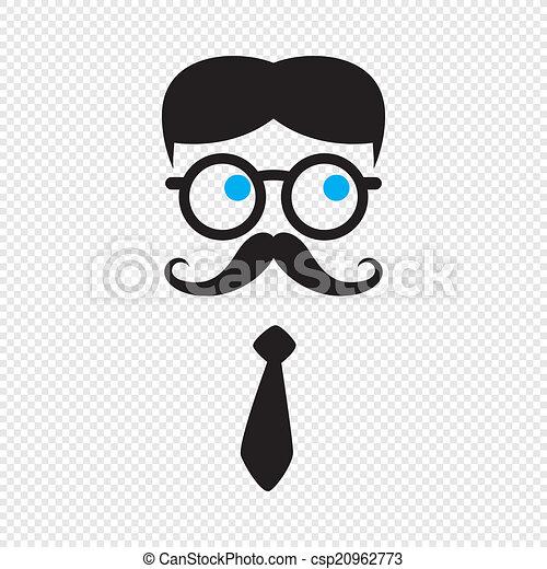 geek , χαρακτήρας , γελοιογραφία  - csp20962773