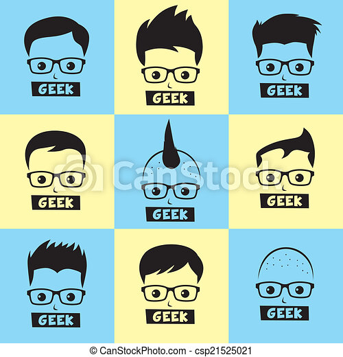 geek , χαρακτήρας , γελοιογραφία  - csp21525021