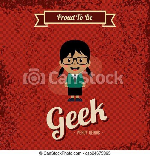 Arte retro Geek - csp24675365