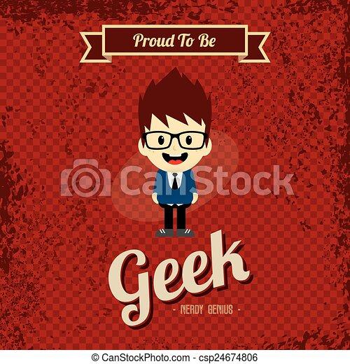 Arte retro Geek - csp24674806