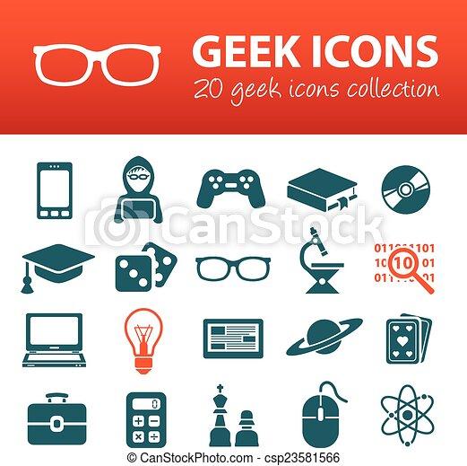 geek icons - csp23581566
