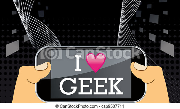 geek, mobile, amore - csp9507711