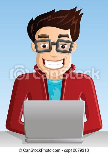 geek, számítógép - csp12079318