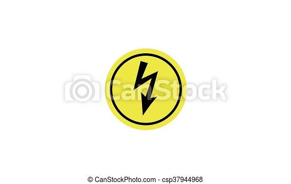 Gefährlicher , warnung, elektrisch, spannung, kreisförmig.