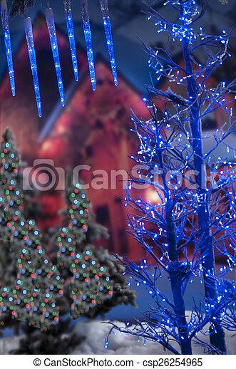 gefärbt, fokus, dekoration, hintergrund, weihnachten, heraus - csp26254965