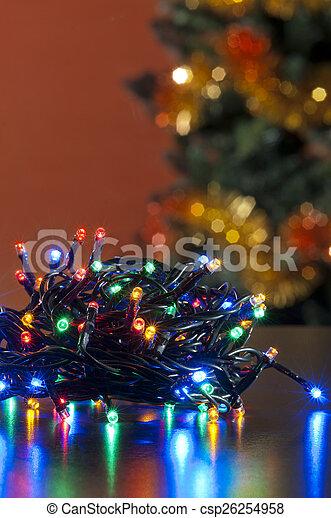gefärbt, fokus, dekoration, hintergrund, weihnachten, heraus - csp26254958