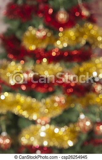 gefärbt, fokus, dekoration, hintergrund, weihnachten, heraus - csp26254945
