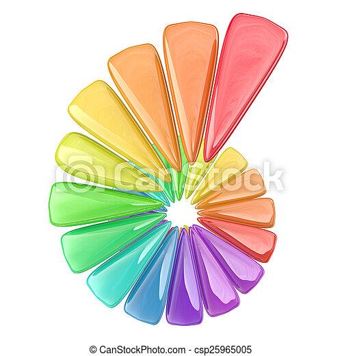 gefärbt, spirale - csp25965005