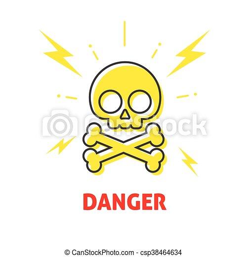 Gefahr, elektrizität, aufkleber schock, gefahr- zeichen,... Vektoren ...
