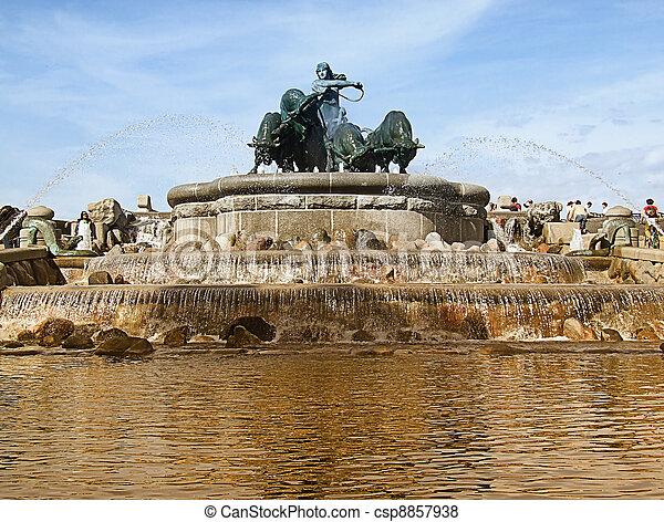 Gefion Fountain 06 - csp8857938