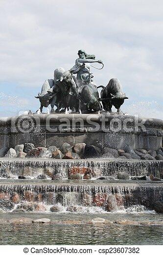 Gefion fountain in Copenhagen - csp23607382