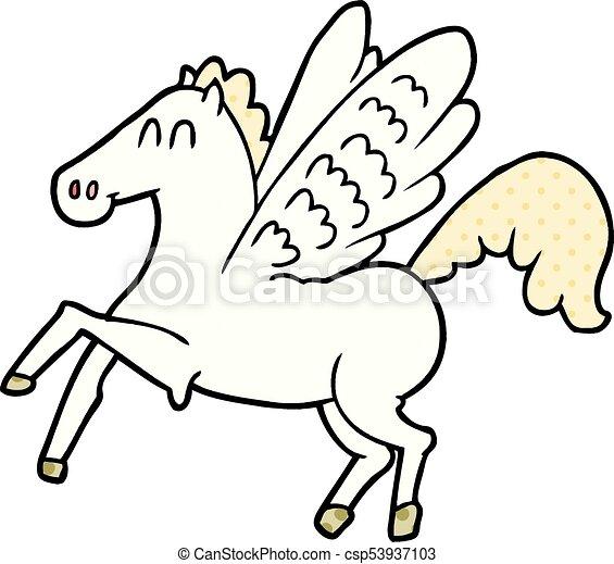 geflügeltes pferd