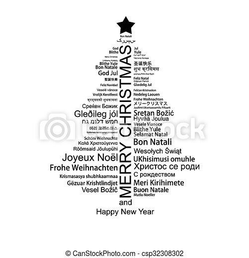 Etiketten Frohe Weihnachten.Geformt Baum Etikett Frohe Weihnacht Wolke